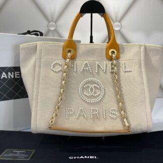 chanel canta shopping incili bej 40x32 cm ithal