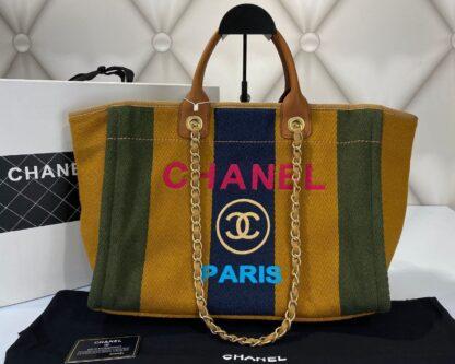 chanel canta shopping seritli 40x32 cm ithal