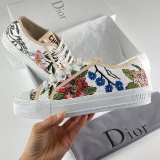 christian dior ayakkabi walk n floral sneaker deri cicek desen