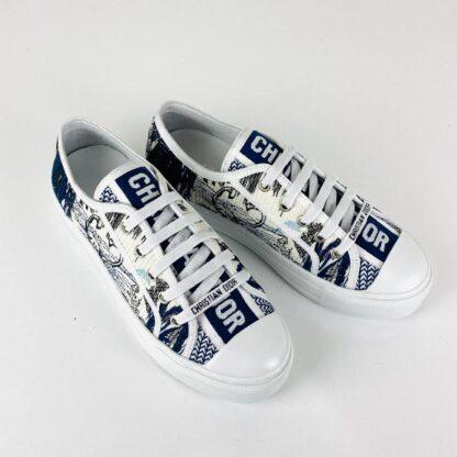 christian dior ayakkabi walk n floral sneaker lacivert