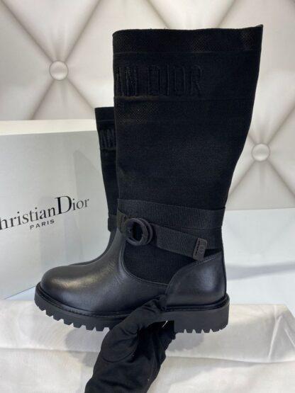 christian dior bot cizme d major siyah deri