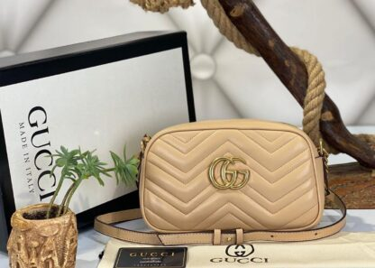 gucci canta marmont messenger nude 24x14x8 cm