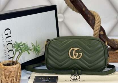 gucci canta marmont messenger yesil 24x14x8 cm