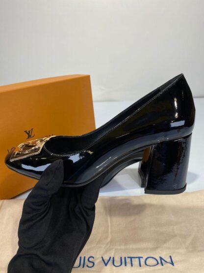 louis vuitton ayakkabi madeleine siyah topuklu 7 cm hakiki deri
