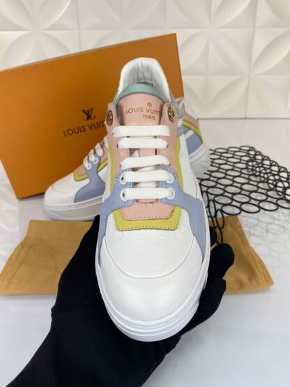 louis vuitton ayakkabi sneakers beyaz mavi yesil ithal