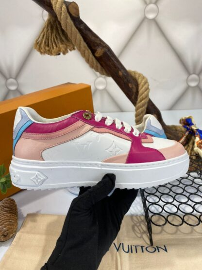 louis vuitton ayakkabi sneakers beyaz pembe fusya ithal