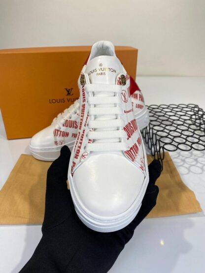louis vuitton ayakkabi sneakers timeout beyaz kirmizi