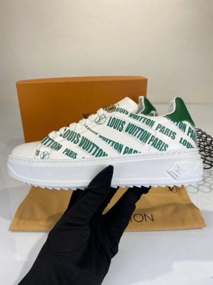 louis vuitton ayakkabi sneakers timeout beyaz yesil