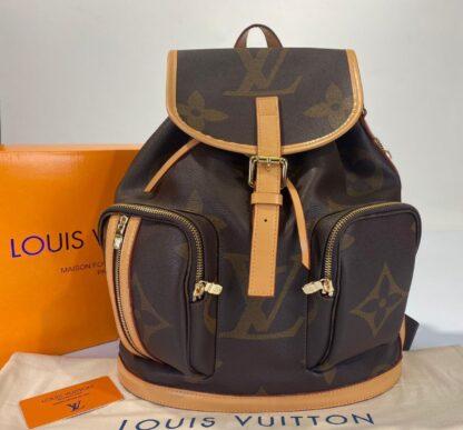 louis vuitton canta bosphore backpack sirt monogram kahve buyuk desen 36x32x13