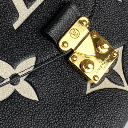 louis vuitton canta metis pochette siyah oversize empreinte bicolor deri 25x19