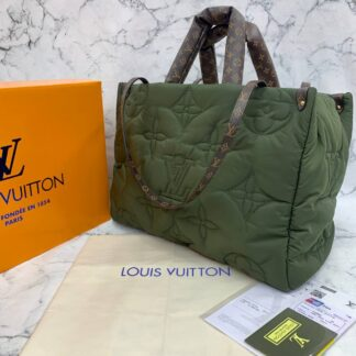 louis vuitton canta on the go gm waterproof yeni yesil 45x30 cm
