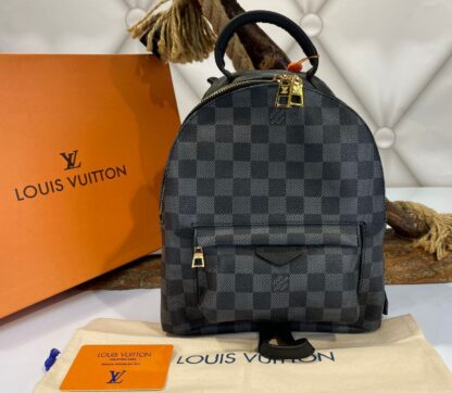louis vuitton canta palm springs backpack orta boy sirt siyah damier 23x26 cm
