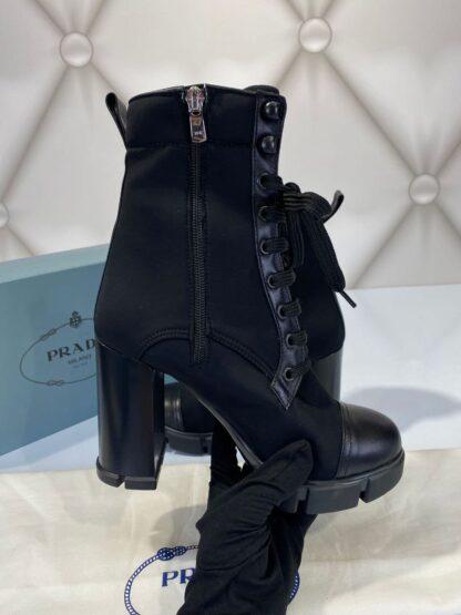 prada bot ankle hing heel siyah topuklu 11 cm