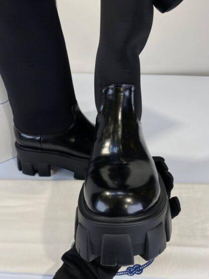 prada bot cizme siyah hakiki deri