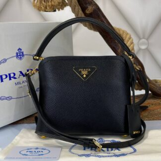 prada canta medium saffiano siyah 21x17 cm ithal