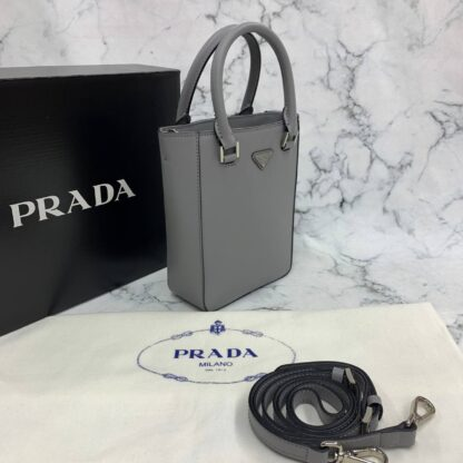 prada canta small brushed leather tote giri ithal 20x14x9 cm