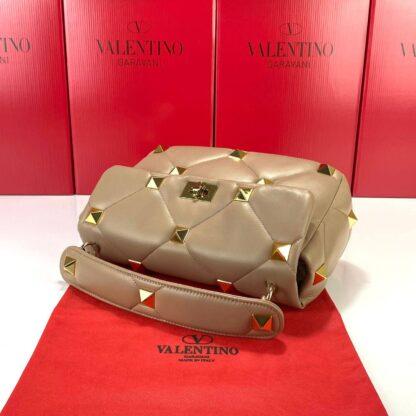 valentino canta vizon large roman stud with chain 30x20 cm